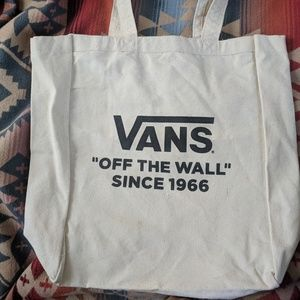 Vans brand new canvas tote bag !